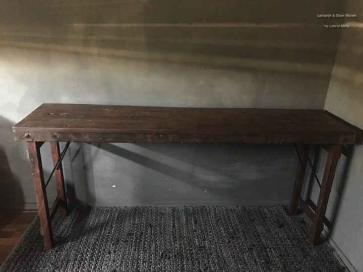 Teakhouten console tafel