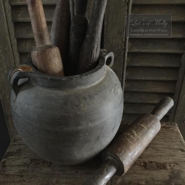 Sobere oud houten Chapati rollers