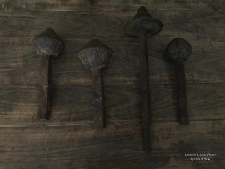 Koperen deurknoppen