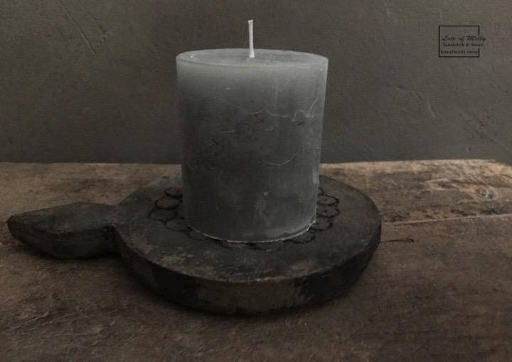 Stompkaarsen steelgrey