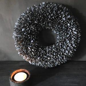 Bakuli krans dark grey wash