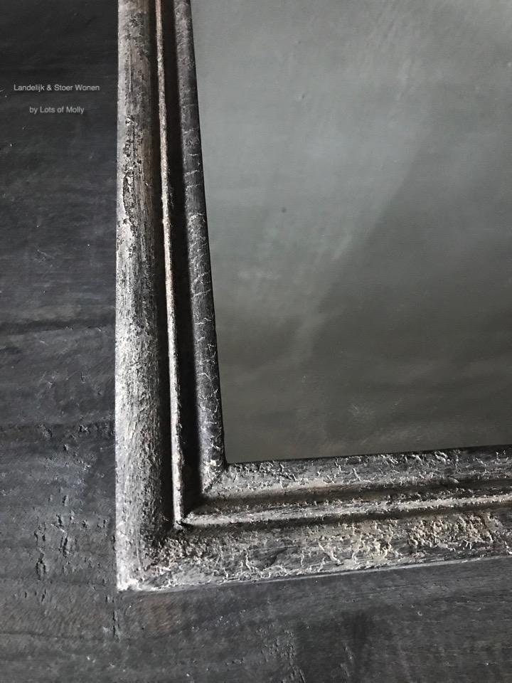 Oud houten spiegel