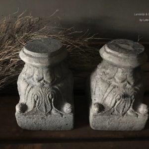 Mooie betonnen kandelaar/ornament Aura Peeperkorn
