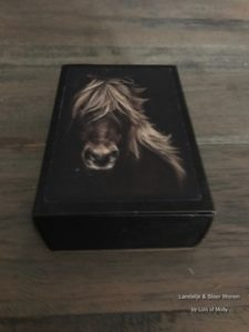 Vintage soap in a box paard