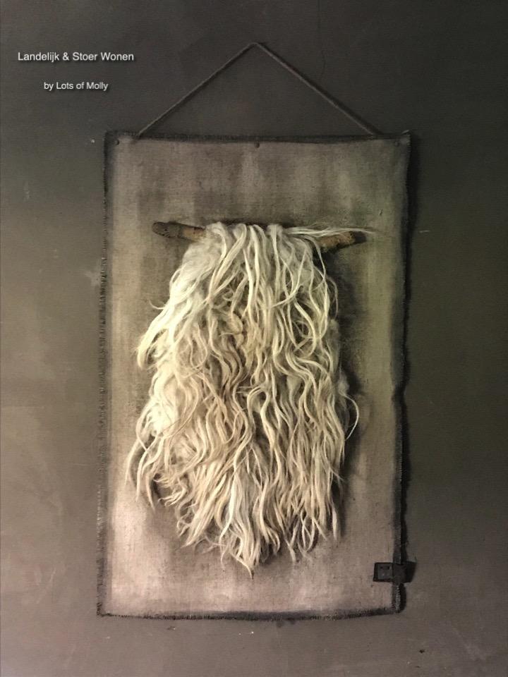 handgemaakte kalkdoek schapenwol