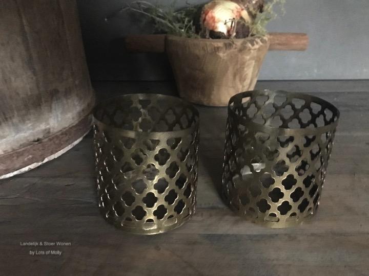 Waxine houder brass