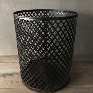 Metalen windlicht S