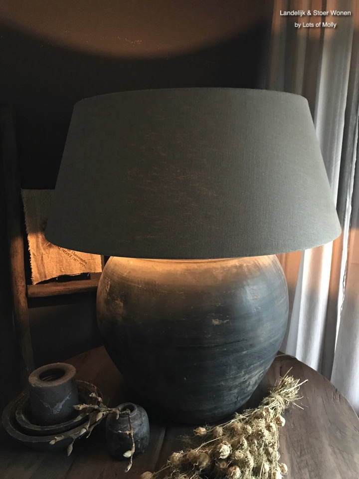 Lamp terracotta pot