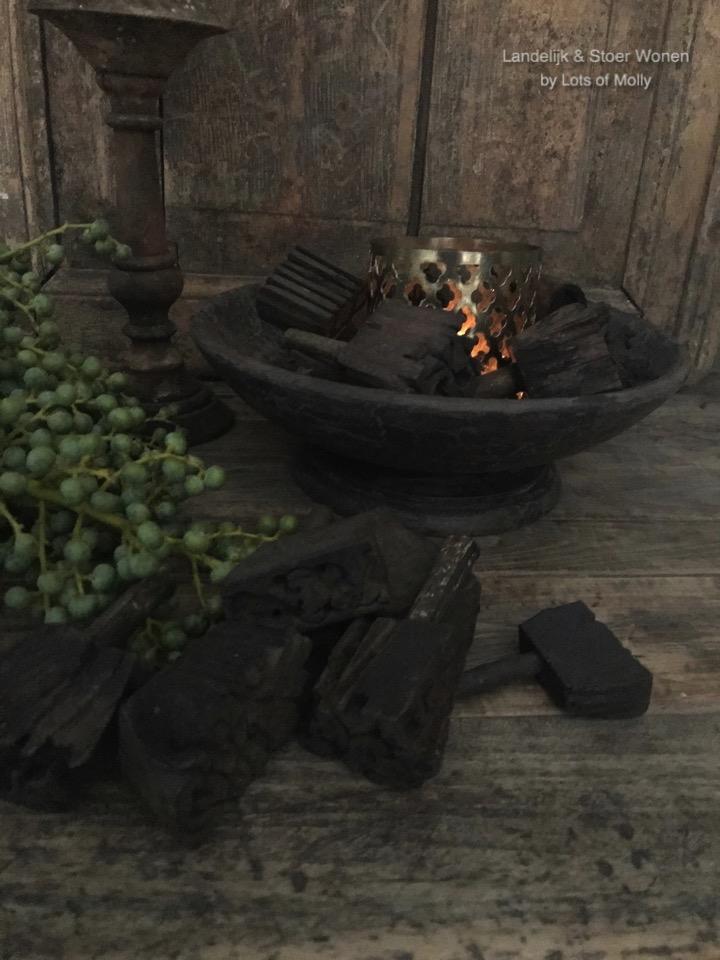 Set van 4 oude stempeltjes uit India