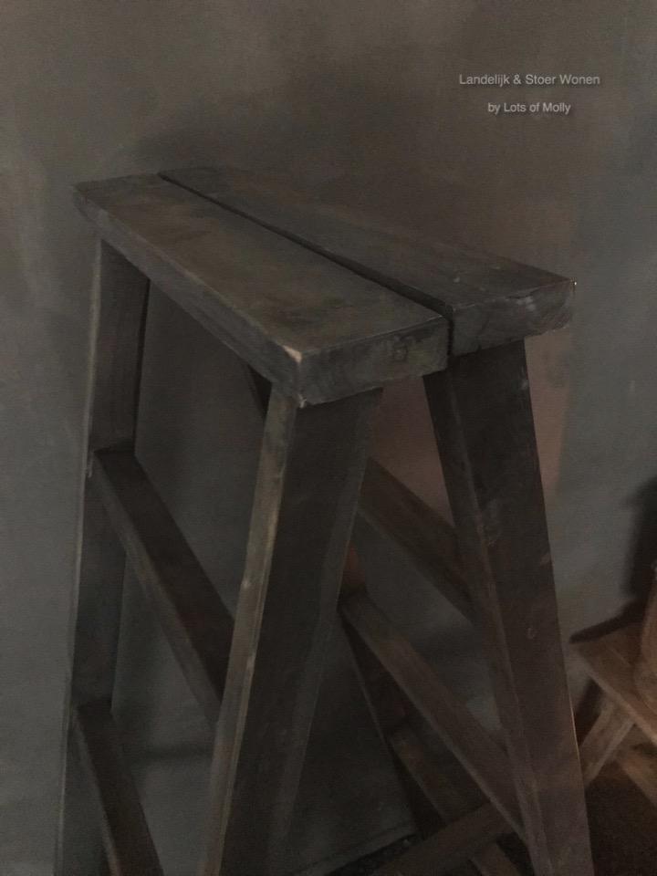 dubbele, ladder, Aura, Peeperkorn, hout, accessoires, Decoratie, Sober, Stoer, wonen, landelijk, Robuust