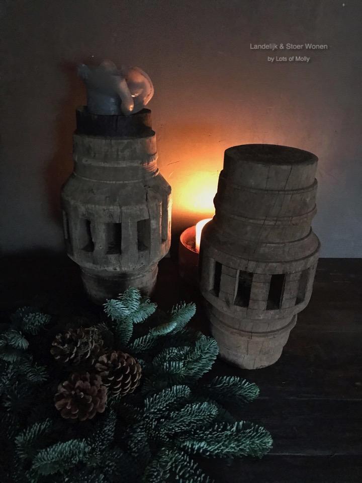 Origineel oud houten ornament Aura Peeperkorn
