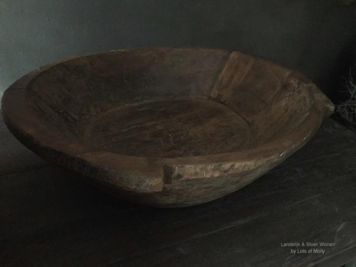 Oud houten schaal