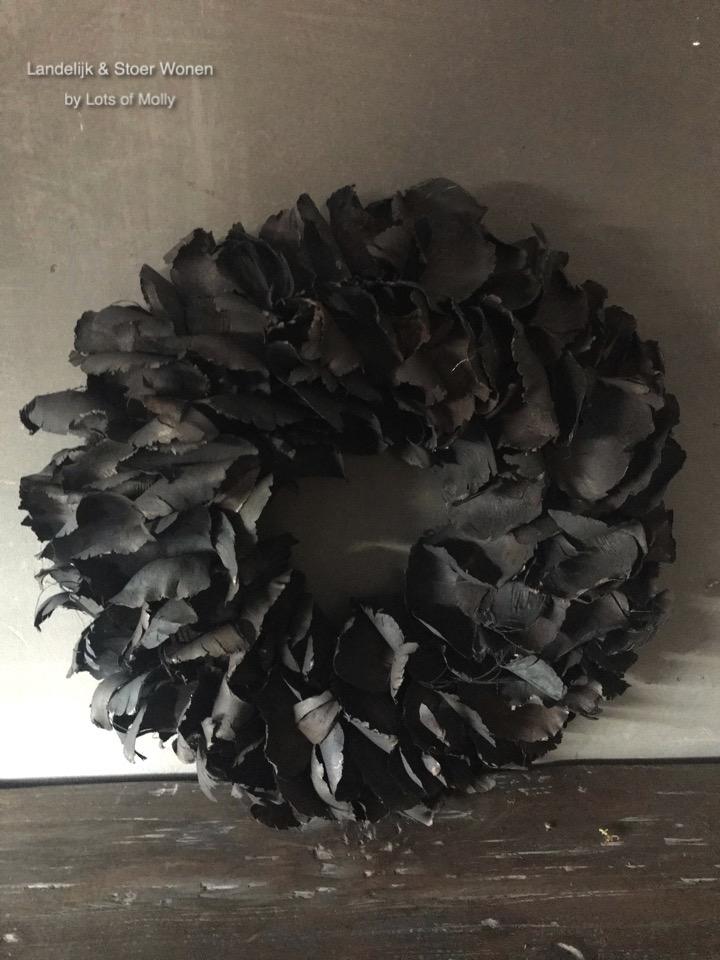 Krans Palm Petal zwart